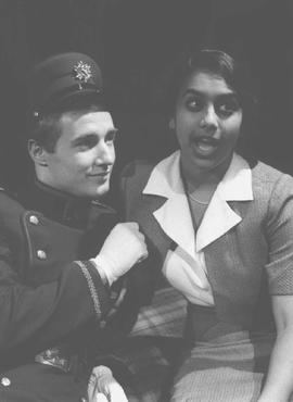 Christopher Dyson and Glenda Braganza in the play Faith, Hope and Charity
