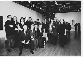 Members of the Faculty of Fine Arts advisory board in Ellen Art Gallery