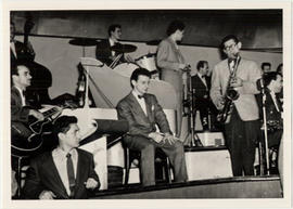 Tenor saxophonist Benny Winestone soloing with an unidentified Montreal big band