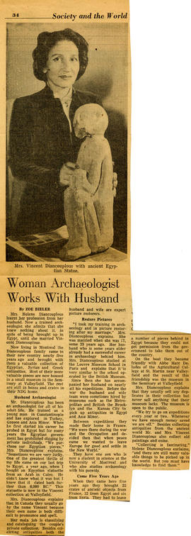 Woman Archaeologist Works With Husband