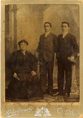 Unidentified Woman with Two Boys