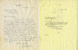 Letter from Fred Paynter and Henry F. Hall's Reply