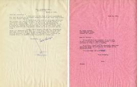 Letter from Bob Halford and Henry F. Hall's Reply