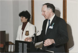 Unidentified woman and Patrick Kenniff at Event