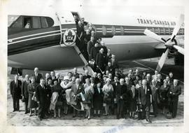 Group Boarding a Flight to Newfoundland