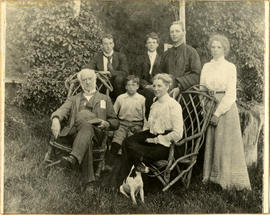 Sir Wiliam H. Hingston and his family