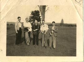 Douglass B. Clarke, Kenneth E. Norris, Henry F. Hall and Two Friends Golfing