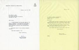 Letter from David C. Munroe, Vice-Chairman of the Superior Council of Education and Henry F. Hall...