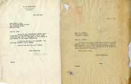 Letter from W.W. Southam and Henry F. Hall's Reply
