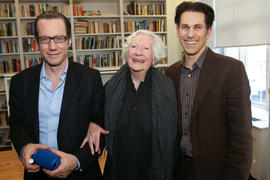 Jacob Richler, Florence Richler and an unidentified person