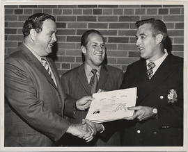 Unidentified Man Receiving Award